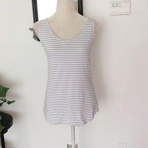 Lululemon Gray White Striped Top